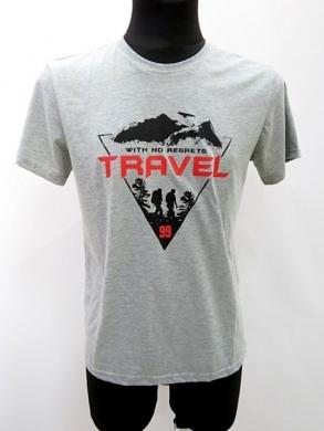 T-shirt męski z krótkim rękawem (M-3XL) KM16677