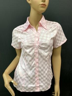 Koszula damska satynowa  krótki rękaw ( 36-44 ) T08
