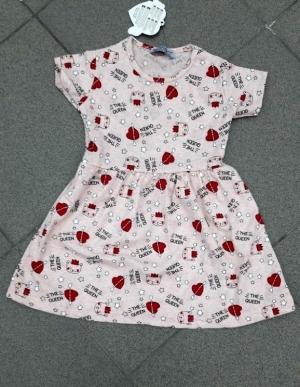 Sukienka dziewczęca krótki rękaw-Turecka (3-6) NL5782
