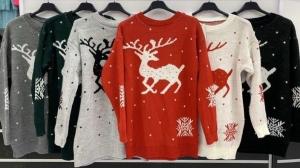 Sweter świąteczne damskie (standard) KM13341