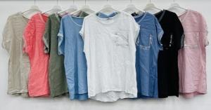 Bluzka damska krótki rękaw - Włoska (Standard) NL5939
