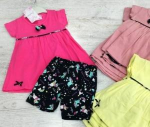 Sukienka dziewczęca krótki rękaw-Turecka (1-5 lat) NL5908