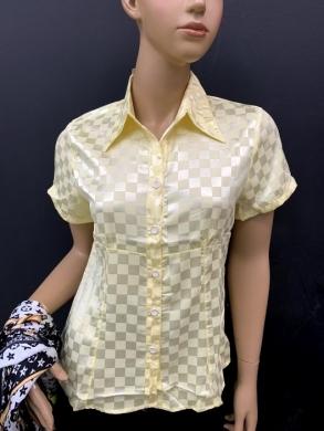 Koszula damska satynowa  krótki rękaw ( 36-44 ) T05