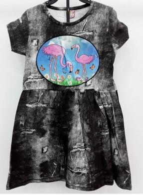 Sukienka dziewczęca krótki rękaw ŚWIATŁO- Turecka (5-8) NL5792