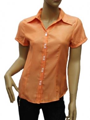 Koszula Damska Satynowa Kr. Rękaw OH-1001015