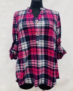 Koszula damska z długim rękawem (L-3XL) KM15650