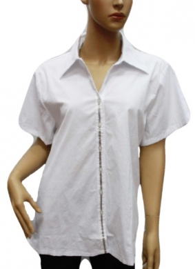 Koszula Damska Bawełniana Kr. Rękaw DW0837
