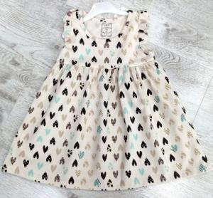 Sukienka dziewczęca krótki rękaw-Turecka (1-4 lat) NL5907