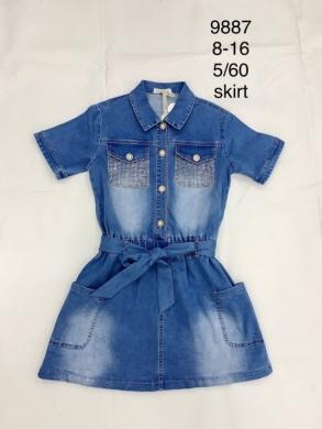 Sukienka dziewczęca krótki rękaw (8-16) TP539