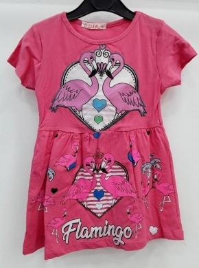 Sukienka dziewczęca krótki rękaw ŚWIATŁO- Turecka (4-8) NL5790