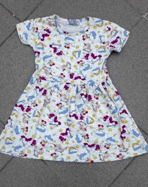 Sukienka dziewczęca krótki rękaw-Turecka (3-6) NL5784