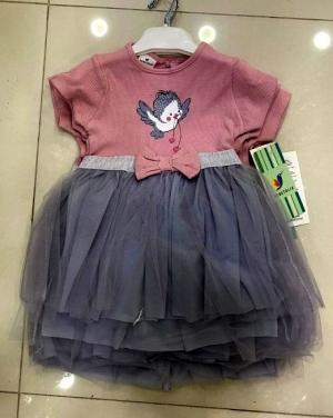 Sukienka dziewczęca krótki rękaw-Turecka (9-24M) NL2421