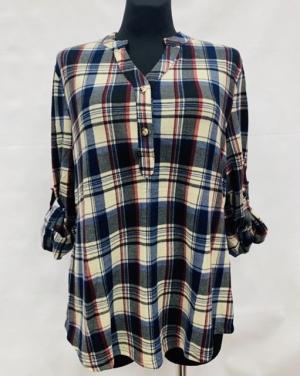 Koszula damska z długim rękawem (L-3XL) KM15653