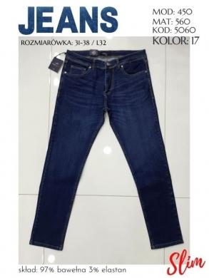 Spodnie jeansowe męskie Tureckie (31-38) NL2174