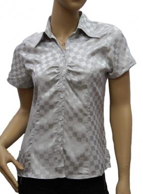 Koszula Damska Satynowa Kr. Rękaw OH-1001002