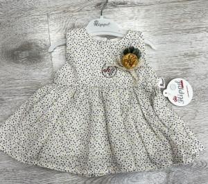 Sukienka dziewczęca krótki rękaw-Turecka (6-18 M) NL5910