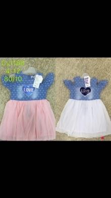 Sukienka dziewczęca krótki rękaw (4-12) TP542