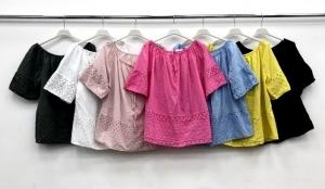 Bluzka damska krótki rękaw - Włoska (Standard) NL7277