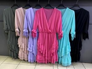 Sukienka damska 3-4 rękaw - Włoska (Standard) NL2087
