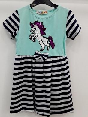 Sukienka dziewczęca krótki rękaw-Turecka (5-8) NL5787