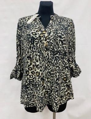 Koszula damska z długim rękawem (L-3XL) KM15652