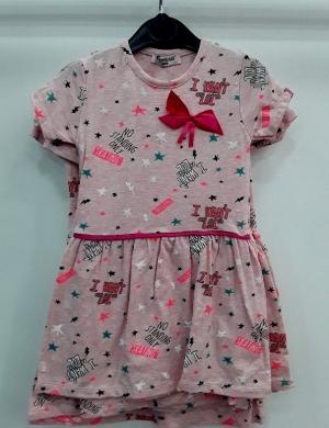 Sukienka dziewczęca krótki rękaw-Turecka (3-6) NL5786
