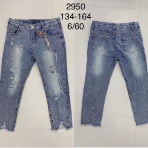 Spodnie Jeansowe Dziewczęce (134-164) TP513