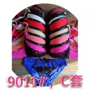 Komplet (biustonosz + majtki) C Różowy KM13620