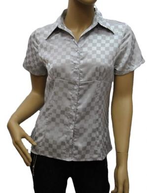 Koszula Damska Satynowa Kr. Rękaw OH-1001012