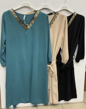 Sukienka damska z długim rękawem- włoska (Standard) KM14297
