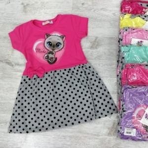 Sukienka dziewczęca krótki rękaw-Turecka (0-4 lat) NL5905