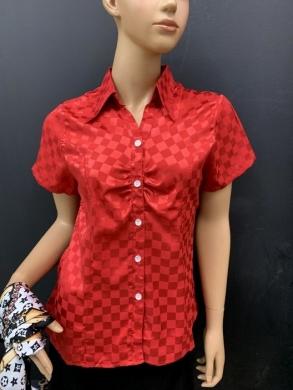 Koszula damska satynowa  krótki rękaw ( 36-44 ) T04