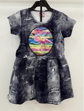 Sukienka dziewczęca krótki rękaw ŚWIATŁO- Turecka (5-8) NL5793